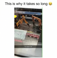 Lol, Memes, and Singing: This is why it takes so long  I've seen it all me at work! 😂 👉🏻(@bestvines lol singing) Credit: JordanRutledge (Twitter)