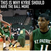 Where should @kyrieirving go? : ⠀ 📹 @5starbasketball: THIS IS WHY KYRIE SHOULD  HAVE THE BALL MORE  ST. PATRIC Where should @kyrieirving go? : ⠀ 📹 @5starbasketball