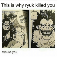 Anime Naruto And Onepiece This Is Why Ryuk Killed You SISTER My HAVE