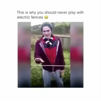 Memes, Never, and 🤖: This is why you should never play with  electric fences Follow my other account @antisocialtv