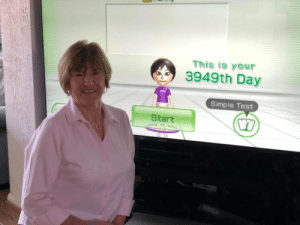 Grandma, Test, and Simple: This is your  3949th Day  wii  Simple Test  Start My Grandma has played Wii Fit everyday for over 10 years!
