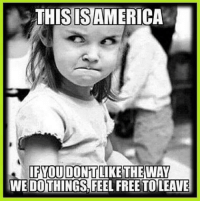 Memes, 🤖, and Freedom Fighter: THIS ISAMERICA  IFYOU DONT  LIKE THE WAY  WE DOTHINGS FEEL FREE TO LEAVE America's Freedom Fighters