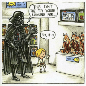 Darth Vader, Tumblr, and Blog: THIS ISN'T  THE TOY YOURE  LOOKING FOR  Yes, it is. srsfunny:Darth Vader And Luke