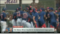 Freaking Tebow... LIKE Mets Nation!: THIS JUST IN  Na Tim Tebow: HR on 1st pitch in 1st instructional league game  EJ Freaking Tebow... LIKE Mets Nation!
