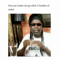 Memes, Jamaica, and Water: this just made me go drink 2 bottles of  water  cucU Tag someone to remind them to stay hydrated 💦 By @officialmackab yyc jamaica thisguy needs a recorddeal