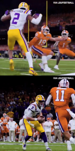 This Justin Jefferson juke. 😳 @JJettas2   (via @LSUfootball, h/t @thecheckdown) https://t.co/9qdGwXDrJP: This Justin Jefferson juke. 😳 @JJettas2   (via @LSUfootball, h/t @thecheckdown) https://t.co/9qdGwXDrJP