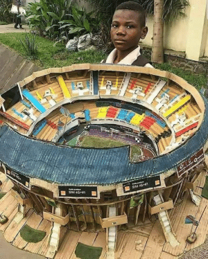 This kid is from Nigeria and his dream is to become an Architect in future. He made a model of Camp Nou football stadium (Barcelona). He's just 11 years old. 😍👏 https://t.co/m468u03L6k: This kid is from Nigeria and his dream is to become an Architect in future. He made a model of Camp Nou football stadium (Barcelona). He's just 11 years old. 😍👏 https://t.co/m468u03L6k