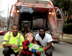 This kid is proud of his truck and meeting his heroes: This kid is proud of his truck and meeting his heroes