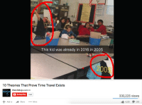 browsedankmemes:well well well… (by meme-scholar ) via /r/dank_meme http://ift.tt/2smfgKo: This kid was already in 2016 in 2005  2005  10 Theories That Prove Time Travel Exists  WatchMojo.com  Subscribe  mo o  14M  330,225 views  Share More  4,228 285 browsedankmemes:well well well… (by meme-scholar ) via /r/dank_meme http://ift.tt/2smfgKo