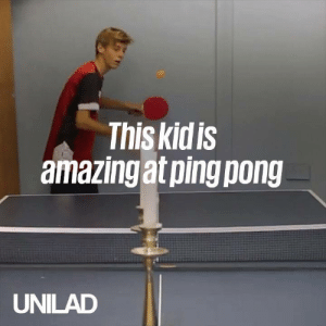 Dank, Old, and 🤖: This kidis  amazingat ping pong  UNILAD This 14-year-old is an absolute beast at ping pong! 🙌🏓