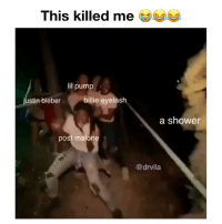 Memes, Post Malone, and Shower: This killed me  ea  il pump  stin bieber  billie eyelash  a shower  post malone  @drvlla Lmaoo 😂😂😂 ( Credit: @drvlla ) - YouTube: Fright Trail