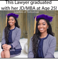 An Atlanta native, Dream Montgomery is a fourth-year JD-MBA Candidate at Howard University School of Law and School of Business. After receiving her B.S. in three years from St. John's University in NY, she enrolled in law school at the age of 21 in pursuit of becoming an entertainment attorney. --- Follow @reseaudocteur @reseaudocteur to keep updated on up and coming leaders! 👏🏾: This Lawyer graduated  with her JD/MBA at Age 25  Leaders of Tomorrow An Atlanta native, Dream Montgomery is a fourth-year JD-MBA Candidate at Howard University School of Law and School of Business. After receiving her B.S. in three years from St. John's University in NY, she enrolled in law school at the age of 21 in pursuit of becoming an entertainment attorney. --- Follow @reseaudocteur @reseaudocteur to keep updated on up and coming leaders! 👏🏾