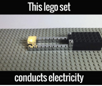 lego sets: This lego set  conducts electricity