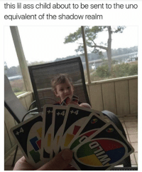 😂💀 I'm Dead. Yugioh: this lil ass child about to be sent to the uno  equivalent of the shadow realm 😂💀 I'm Dead. Yugioh