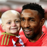 This little boy touched the hearts of millions, and united football fans of different teams. Our heartfelt condolences to Bradley's family, after the sad news that he passed away today. Bradley's smile and courage was, and will continue to be an inspiration to so many. Our thoughts are also with @iamjermaindefoe tonight, who spoke so movingly again of their bond this week. Rest in Peace Bradley. x: This little boy touched the hearts of millions, and united football fans of different teams. Our heartfelt condolences to Bradley's family, after the sad news that he passed away today. Bradley's smile and courage was, and will continue to be an inspiration to so many. Our thoughts are also with @iamjermaindefoe tonight, who spoke so movingly again of their bond this week. Rest in Peace Bradley. x
