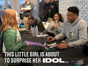 Dank, Girl, and Been: THIS LITTLE GIRL IS ABOUT  TO SURPRISE HER IDOL... She's been making her gift for years, just hoping for a chance to give it to her hero 👏