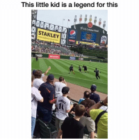 Funny, Lmao, and Legend: This little kid is a legend for this  US Cellular Field  STANLEY  Lite LMAO someone needa draft this kid asap 💀 👉🏽(kid:@mo_mo3691)