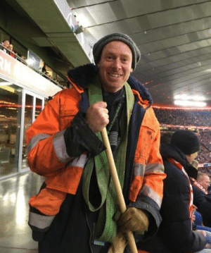 This Liverpool fan dressed up as a cleaner to get into the Allianz Arena without a ticket. 😂👏 https://t.co/npjewiNbg9: This Liverpool fan dressed up as a cleaner to get into the Allianz Arena without a ticket. 😂👏 https://t.co/npjewiNbg9