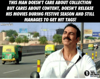 Memes, Movies, and Troll: THIS MAN DOESN'T CARE ABOUT COLLECTION  BUT CARES ABOUT CONTENT, DOESN'T RELEASE  HIS MOVIES DURING FESTIVE SEASON AND STILL  MANAGES TO GET HIT TAGS!  TROLL  BOLLWOOD Akshay Kumar everyone!  #Dynamite