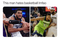 Basketball, Nba, and Sports: This man hates basketball Imfao  ORLEANS  ESOT  OVE His face tho 😂 (Via ‪Cindtrillella‬-Twitter)