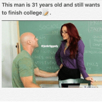 Respect 💯 (if you get offended by that video plz dm me so we can work things out): This man is 31 years old and still wants  to finish college  QUIZ  ejankriggady  DO POLIT  DIES OVER  ATIST CAC  MEDI Respect 💯 (if you get offended by that video plz dm me so we can work things out)
