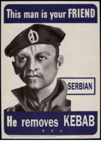 kebab: This man is your FRIEND  SERBIAN  He removes KEBAB