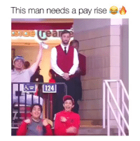 LMAO this is great & he's cute too: This man needs a pay rise  124 LMAO this is great & he's cute too