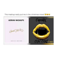 Memes, Mood, and Festival: This mashup really put me in the christmas mood  ADRIAN MASHUPS  GRANDE  IN A  AR festive
