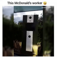 Funny, Lol, and McDonalds: This McDonald's worker  LADbible  Hoodclips.com LOL