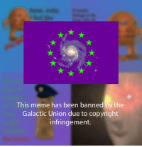 Meme, Been, and Copyright: This meme has been banned by the  Galactic Union due to copyright  infringement. Hey guys, Look at this meme before it is deleted! https://t.co/QIB7uo0Gtt