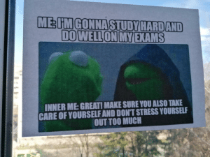 This meme someone hung up on one of the windows at my school. Feel like a lot of people here need it.: This meme someone hung up on one of the windows at my school. Feel like a lot of people here need it.