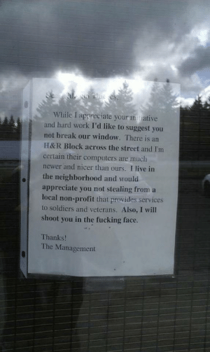 This message left for thieves: This message left for thieves