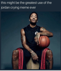 Blackpeopletwitter, Crying, and Meme: this might be the greatest use of the  jordan crying meme ever <p>His knees have been crying for awhile (via /r/BlackPeopleTwitter)</p>