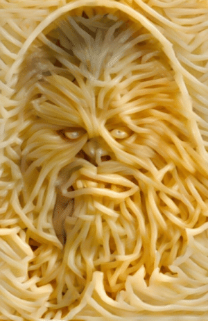 This might look like Chewbacca, but it's an impasta.: This might look like Chewbacca, but it's an impasta.