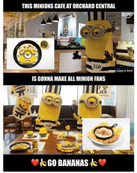 Memes, Minion, and Minions: THIS MINIONS CAFE AT ORCHARD CENTRAL  310  Photo credits to SAYS  IS GONNA MAKE ALL MINION FANS  ACK  AD SHoW  310  GO BANANAS Everybody sing with me... ba ba ba, ba ba na na.... BA BA BA, BA BA NA NA~~~!!!