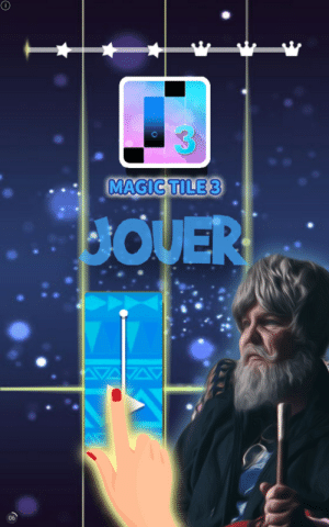 This mobile ad used a picture of Tones And I expecting me to think it's just a magician: This mobile ad used a picture of Tones And I expecting me to think it's just a magician