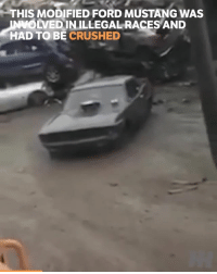 Look at those rear tyres 😲 📹:Hemlighetsfull Stackare: THIS MODIFIED FORD MUSTANG WAS  OLVEDINILLEGAL RACES AND  HAD TO BE CRUSHED Look at those rear tyres 😲 📹:Hemlighetsfull Stackare