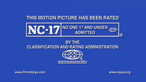 motion picture: THIS MOTION PICTURE HAS BEEN RATED  NO ONE 17 AND UNDER  ADMITTED  BY THE  CLASSIFICATION AND RATING ADMINISTRATION  MOTION PICTURE ASSOCLATION OF AMERIC  www.filmratings.com  www.mpaa.org