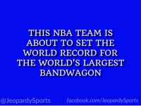 "Facebook, Golden State Warriors, and Jeopardy: THIS NBA TEAM IS  ABOUT TO SET THE  WORLD RECORD FOR  THE WORLD'S LARGEST  BANDWAGON  facebook.com/Ueopardy Sports  @Jeopardy Sports ""Who are: the Golden State Warriors?"" #JeopardySports #NBAFinals https://t.co/vvrWWKPfUW"