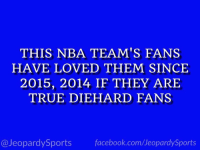 "Facebook, Golden State Warriors, and Jeopardy: THIS NBA TEAM'S FANS  HAVE LOVED THEM SINCE  2015, 2014 IF THEY ARE  TRUE DIE HARD FANS  @Jeopardy Sports  facebook.com/Ueopardy Sports ""Who are: the Golden State Warriors?"" #JeopardySports #NBAFinals https://t.co/Ou0UosLQvy"