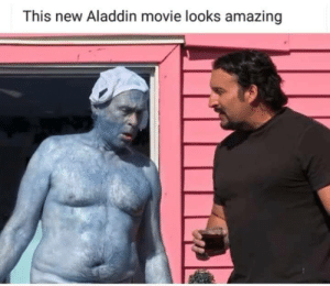 Aladdin, Movie, and Amazing: This new Aladdin movie looks amazing Jafar forcing Genie to take another shot