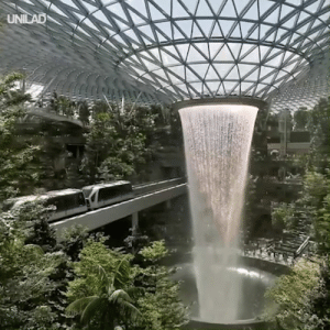 Dank, 🤖, and Jewel: This new indoor waterfall at the Jewel Changi Airport is absolutely breathtaking 😲😍