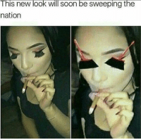 Af, Funny, and Soon...: This new look will soon be sweeping the  nation Her cheeks is clean AF 😂 NoChill