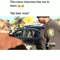 "Lmao😂💀: This news interview has me in  tears 6  ""My bad, mom""  t o Lmao😂💀"