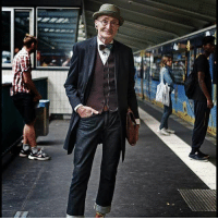 This old man showing hipsters how it is done... Hipster: This old man showing hipsters how it is done... Hipster