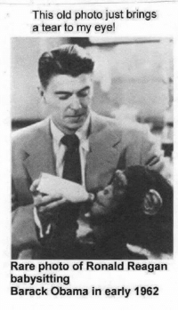 "<p>That cracked me up via /r/dank_meme <a href=""http://ift.tt/2nxkF1V"">http://ift.tt/2nxkF1V</a></p>: This old photo just brings  a tear to my eye!  Rare photo of Ronald Reagan  babysitting  Barack Obama in early 1962 <p>That cracked me up via /r/dank_meme <a href=""http://ift.tt/2nxkF1V"">http://ift.tt/2nxkF1V</a></p>"