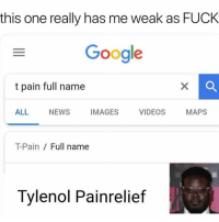 my achilles tendon hurt😾👺: this one really has me weak as FUCK  Google  t pain full name  ALL NEWS IMAGES VIDEOS MAPS  T-Pain Full name  Tylenol Painrelief my achilles tendon hurt😾👺