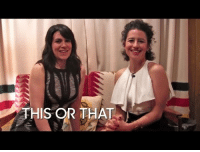 """Target, Would You Rather, and youtube.com: THIS OR THAT <p><b>WEB EXCLUSIVE: </b>Abbi Jacobson and Ilana Glazer of <a class=""""tumblelog"""" href=""""http://tmblr.co/mRw1sIzSQZ5rIGxegzlSh6Q"""" target=""""_blank"""">broadcity</a> hung out backstage to<a href=""""https://www.youtube.com/watch?v=q9zC0YOYwcA"""" target=""""_blank""""> play &ldquo;Would You Rather&rdquo; with fan submitted prompts!</a></p>"""
