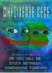 "Social Media, Forever, and Http: THIS PEPE WAS CREATED FOR R/ME_IRL AND R/PEPE.  THIS PEPE TO ANY OTHER SUBREDDIT AND/OR SHARING IT ON ANY OTHER SOCIAL MEDIA WILL  RESULT IN PERMANENT DIMENSIONAL SHIFT OF THE PERSON WHICH VIOLATED THE RULT STATED ABOVE  APPEARS A WILOD  MULTIVERSE PEP  CT TMELNE N SELECT TINME  UPVOTE IN 42, SECONOS  OR YOU WILL BE  STUCK BETWEEN  DIMENSIONS FOREVER  PEPE GENUINE PEPE GENUINE PEPE GENUINE PEPE GENUINE PEPE GENUNE PEPE GENUINE PEPE GENUINE PEPE GENUINE PEPE GENUINE PEPE GENUINE PEPE GENUIN <p>I made this Pepe yesterday. What do you think about its investment potential? via /r/MemeEconomy <a href=""http://ift.tt/2jyGI2w"">http://ift.tt/2jyGI2w</a></p>"