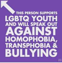 transphobia: THIS PERSON SUPPORTS  LGBTQ YOUTH  AND WILL SPEAK OUT  AGAINST  HOMOPHOBIA  TRANSPHOBIA &  BULLYING  reve  &riot